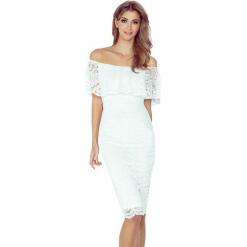 Ecru Koronkowa Sukienka Hiszpanka. Białe sukienki hiszpanki marki bonprix, na ślub cywilny, z wełny, eleganckie, moda ciążowa. Za 219,99 zł.
