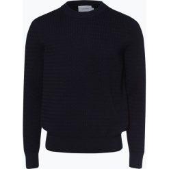 Calvin Klein - Sweter męski, niebieski. Pomarańczowe swetry klasyczne męskie marki Calvin Klein, l, z bawełny, z okrągłym kołnierzem. Za 499,95 zł.