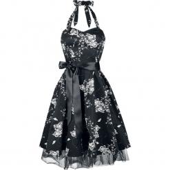 H&R London White Floral Sukienka czarny/biały. Białe sukienki na komunię H&R London, na imprezę, s, z nadrukiem, z jedwabiu, z kokardą. Za 229,90 zł.