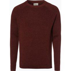 Swetry klasyczne męskie: Selected – Sweter męski, pomarańczowy