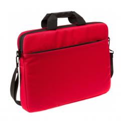 """Accura Gino Red 17"""" ACC6076. Czerwone torby na laptopa Accura, z materiału. Za 39,90 zł."""