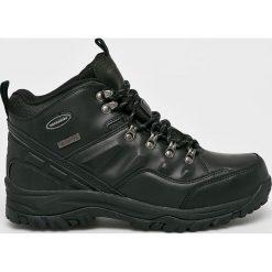 Skechers - Buty. Czarne buty trekkingowe męskie Skechers, z materiału, na sznurówki, outdoorowe. Za 259,90 zł.