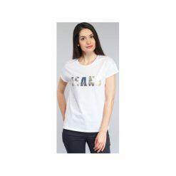 T-shirty z krótkim rękawem Armani jeans  KREKOLA. Czarne t-shirty damskie marki Armani Jeans, z jeansu. Za 367,20 zł.