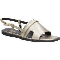 SANDAŁY MONNARI BUT0040. Szare sandały damskie marki Monnari, w paski, z materiału, duże. Za 59,99 zł.