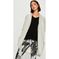 Nike Sportswear - Bluza. Szare bluzy rozpinane damskie Nike Sportswear, l, z nadrukiem, z bawełny, z kapturem. Za 219,90 zł.