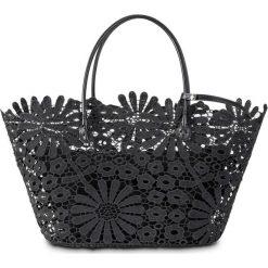 Shopper bag damskie: Torba shopper w kwiatowy wzór bonprix czarny