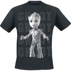 Guardians Of The Galaxy 2 - Groot Photo T-Shirt czarny. Czarne t-shirty męskie z nadrukiem Guardians Of The Galaxy, s, z okrągłym kołnierzem. Za 54,90 zł.