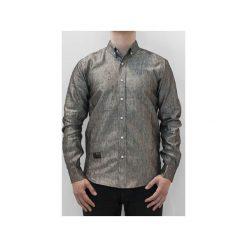 Koszula MSZZ SAMPLE Reflective Chambray. Niebieskie koszule męskie na spinki marki bonprix, m, z nadrukiem, z klasycznym kołnierzykiem, z długim rękawem. Za 169,00 zł.