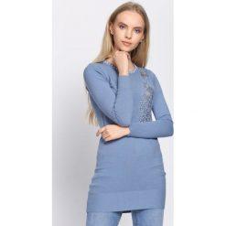 Niebieska Sukienka Unclouded. Niebieskie sukienki dzianinowe Born2be, l. Za 59,99 zł.