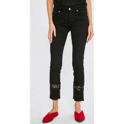 Liu Jo - Jeansy Bottom Up Ideal. Czarne rurki damskie Liu Jo, z bawełny. W wyprzedaży za 599,90 zł.