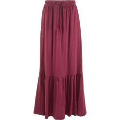 Długa spódnica z wiązanym paskiem bonprix czerwony rododendron. Fioletowe długie spódnice bonprix. Za 59,99 zł.