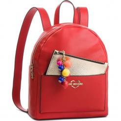Plecak LOVE MOSCHINO - JC4107PP17LM0500 Rosso. Czerwone plecaki damskie marki Love Moschino, ze skóry ekologicznej, klasyczne. Za 959,00 zł.