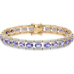 Biżuteria i zegarki damskie: Wspaniała Bransoletka - , Tanzanit