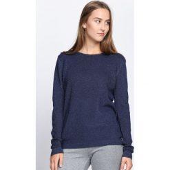 Swetry klasyczne damskie: Granatowy Sweter Feel Good Time