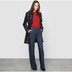 Płaszcze damskie pastelowe: Płaszcz w kratkę 60% wełny