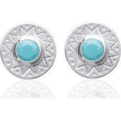 Biżuteria i zegarki: Srebrne kolczyki-wkrętki z ozdobnymi kamyczkami