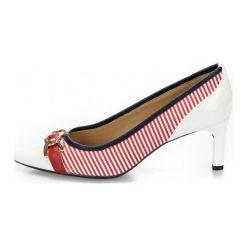Geox Czółenka Damskie Bibbiana 37 Czerwone. Czerwone buty ślubne damskie Geox, w paski. W wyprzedaży za 379,00 zł.