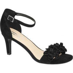 Sandały damskie 5th Avenue czarne. Czarne sandały damskie marki 5th Avenue, z materiału, na obcasie. Za 159,90 zł.