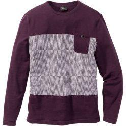 Swetry męskie: Sweter z kieszonką Regular Fit bonprix jeżynowy