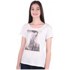 Mustang T-Shirt Damski M Biały. Niebieskie t-shirty damskie marki Mustang, z aplikacjami, z bawełny. W wyprzedaży za 79,00 zł.