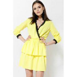 Jasnożółta Sukienka Deep Love. Żółte sukienki mini other, uniwersalny. Za 59,99 zł.
