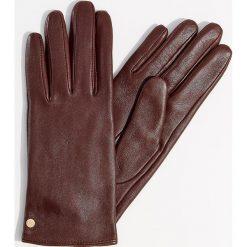 Skórzane rękawiczki - Bordowy. Brązowe rękawiczki damskie marki Roeckl. Za 79,99 zł.