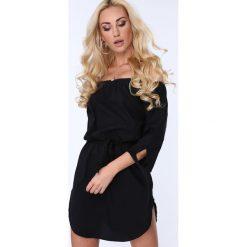 Sukienki hiszpanki: Czarna Sukienka 3151
