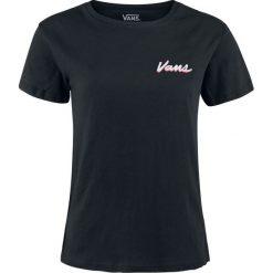 Vans Vintage Checks Koszulka damska czarny. Czarne bluzki damskie Vans, xl, z nadrukiem, vintage, z okrągłym kołnierzem. Za 99,90 zł.