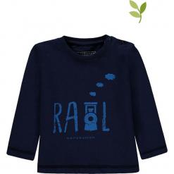 Koszulka w kolorze granatowym. Niebieskie t-shirty chłopięce z długim rękawem bellybutton, z nadrukiem, z bawełny. W wyprzedaży za 35,95 zł.