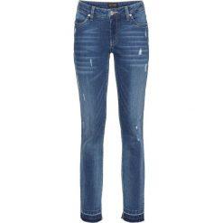 """Dżinsy ze stretchem 7/8 SKINNY bonprix niebieski """"stone"""". Niebieskie rurki damskie bonprix, z jeansu. Za 129,99 zł."""