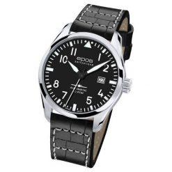 ZEGAREK EPOS Passion 3401.132.20.35.24. Czarne zegarki męskie EPOS, ze stali. Za 4600,00 zł.