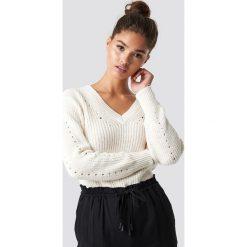 MANGO Sweter Genzov - Offwhite. Szare swetry oversize damskie Mango, z dzianiny. Za 121,95 zł.