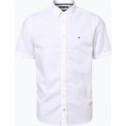 Koszule męskie na spinki: Tommy Hilfiger - Męska koszula z dodatkiem lnu, czarny