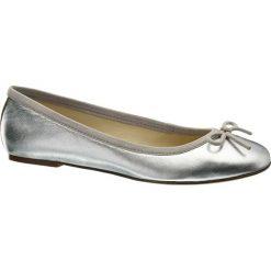 Baleriny damskie lakierowane: baleriny damskie 5th Avenue srebrne