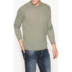 Swetry damskie: Sweter z okrągłym dekoltem i raglanowymi rękawami, z bawełny i lnu