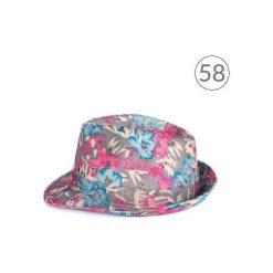 Kapelusze damskie: Art of Polo Kapelusz damski Kwietny styl różowo niebieski r. 58