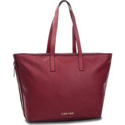 Torebka CALVIN KLEIN - Drive Shopper K60K604460 628. Czerwone shopper bag damskie marki Calvin Klein, ze skóry ekologicznej. Za 699,00 zł.