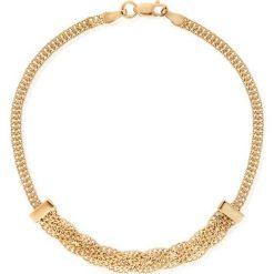 Bransoletki damskie na nogę: RABAT Złota Bransoletka - złoto żółte 585