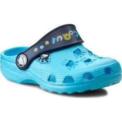 Klapki COQUI - Little Frog COQUI 8701 Blue/Navy Blue. Niebieskie klapki chłopięce marki Coqui, z tworzywa sztucznego. Za 39,99 zł.