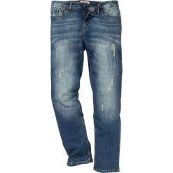 """Dżinsy ze stretchem Regular Fit Tapered bonprix dirty denim """"used"""". Niebieskie jeansy męskie regular bonprix. Za 109,99 zł."""