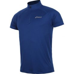 T-shirty męskie: koszulka do biegania męska ASICS SHORTSLEEVE 1/2 ZIP TOP / 110409-8107
