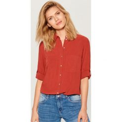 00b98d3eeeee Koszula z podwijanymi rękawami - Czerwony. Czerwone koszule damskie Mohito