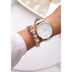 Biały Zegarek Perfect Timing. Zielone zegarki damskie marki other, l, prążkowane. Za 29,99 zł.