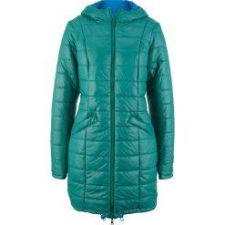 Płaszcz pikowany dwustronny bonprix dymny szmaragdowy - lazurowy. Niebieskie płaszcze damskie bonprix. Za 229,99 zł.