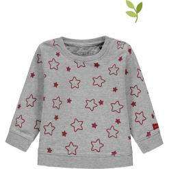 Bluza w kolorze szaro-czerwonym. Czerwone bluzy dziewczęce rozpinane marki bellybutton, z bawełny. W wyprzedaży za 42,95 zł.