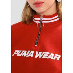 Bluzy rozpinane damskie: Puma HIGH NECK CROPPED Bluza ketchup