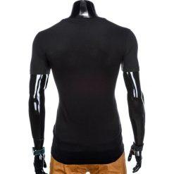 T-SHIRT MĘSKI Z NADRUKIEM S931 - CZARNY. Czarne t-shirty męskie z nadrukiem Ombre Clothing, m. Za 29,00 zł.