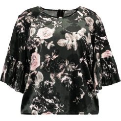 Bluzki asymetryczne: Elvi ROSE PRING FLARED SLEEVE Bluzka z długim rękawem greeen/multi