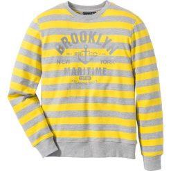 Bluza dresowa Slim Fit bonprix jasnoszary melanż - żółty w paski. Czerwone bluzy dresowe męskie marki KALENJI, m, z długim rękawem, długie. Za 49,99 zł.