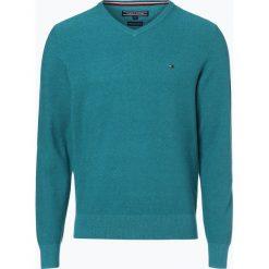 Swetry klasyczne męskie: Tommy Hilfiger – Sweter męski, zielony